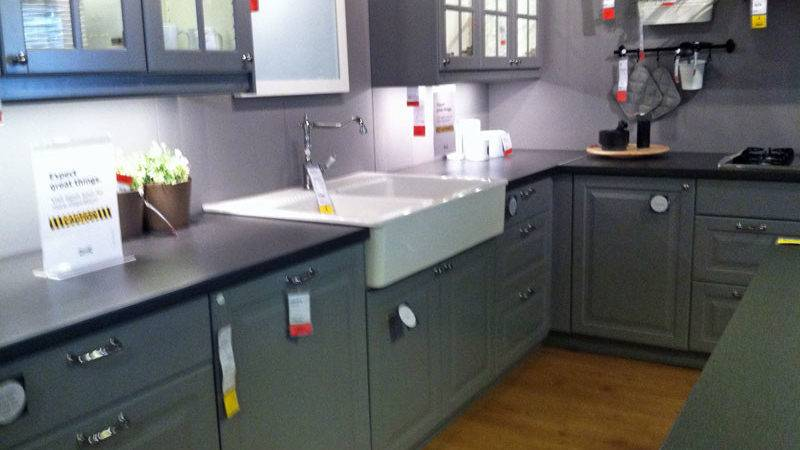 Room Ikea Gray Cabinets
