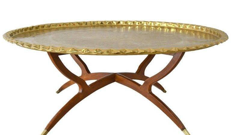 Round Brass Tray Top Coffee Table Stdibs