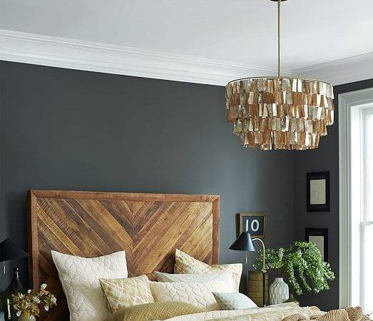 Round Capiz Chandelier Gold West Elm