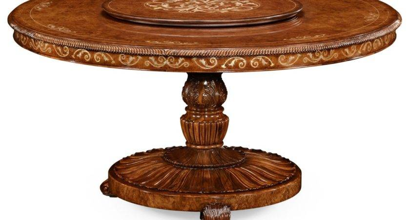 Round Luxury Dining Table Lazy Susan