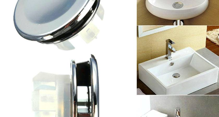 Round Overflow Cover Tidy Trim Chrome Bathroom Basin