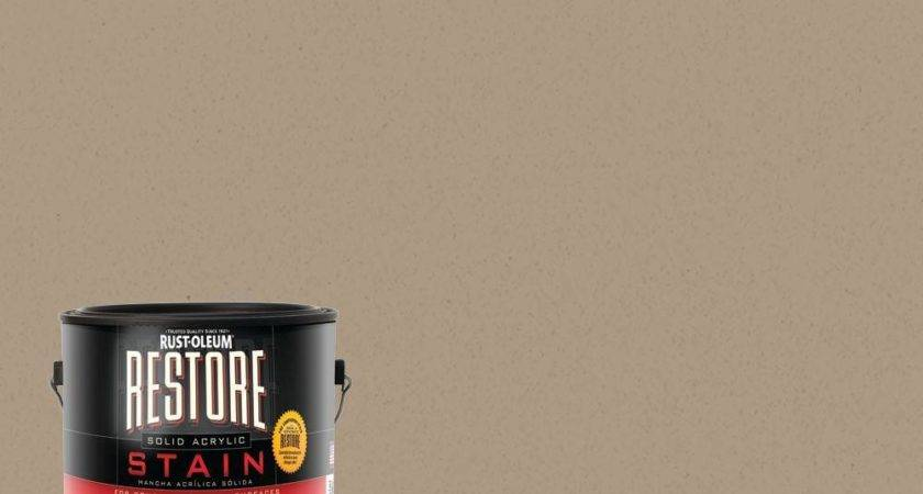 Rust Oleum Restore Gal Driftwood Solid Acrylic Exterior
