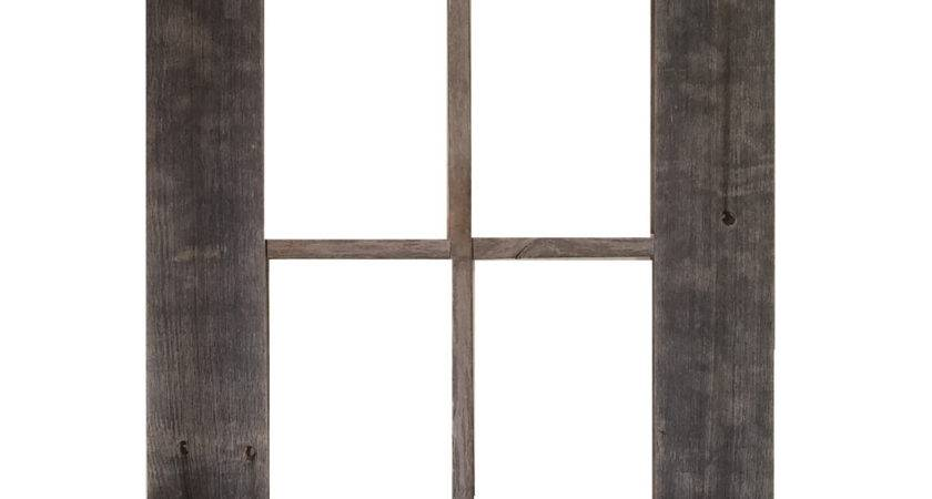 Rustic Barn Wood Window Frame Shelf Key Holder