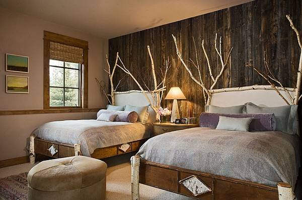 Rustic Bedroom Idea Wooden Accent Wall Decoist