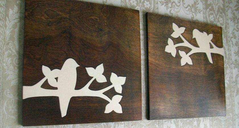 Rustic Bird Wood Wall Decor Art Set