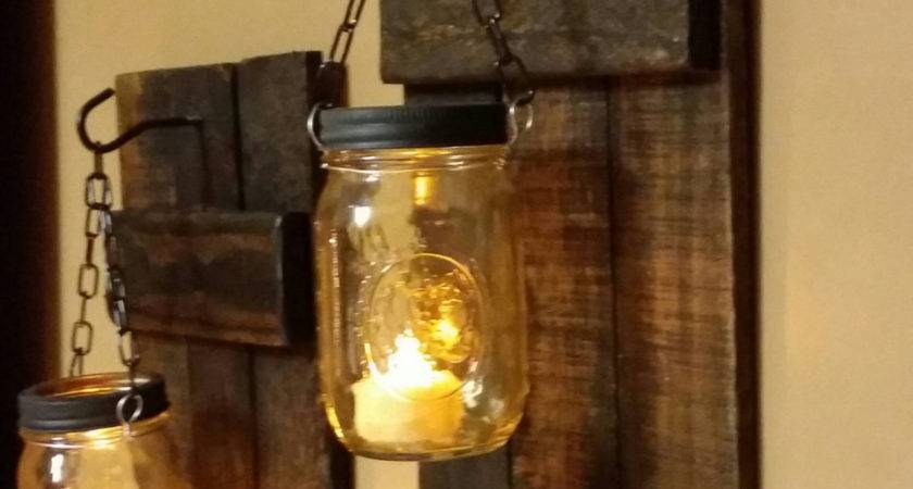 Rustic Candle Holder Decor Teestransformations