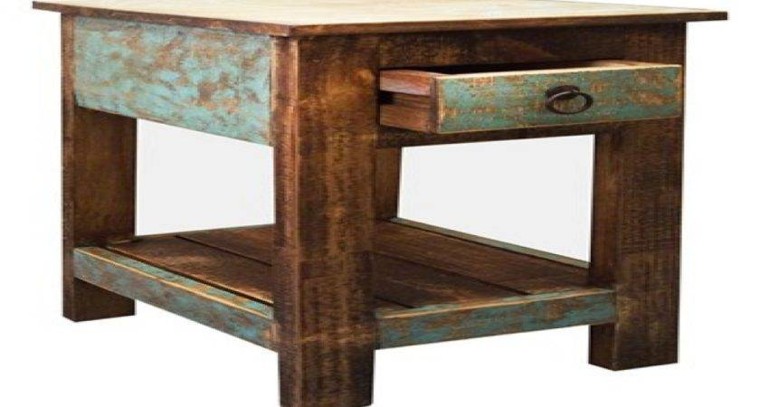 Rustic End Table Small Side