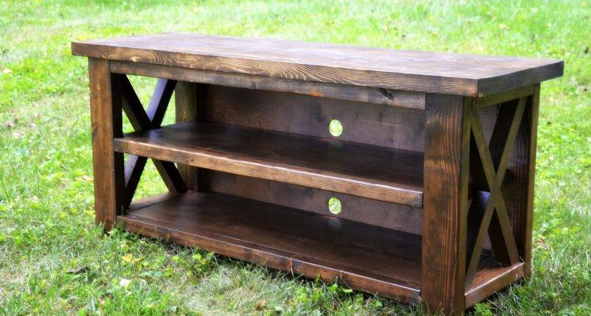 Rustic Entertainment Console Table