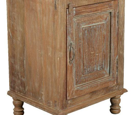 Rustic Farmhouse Reclaimed Wood Night Stand End Table