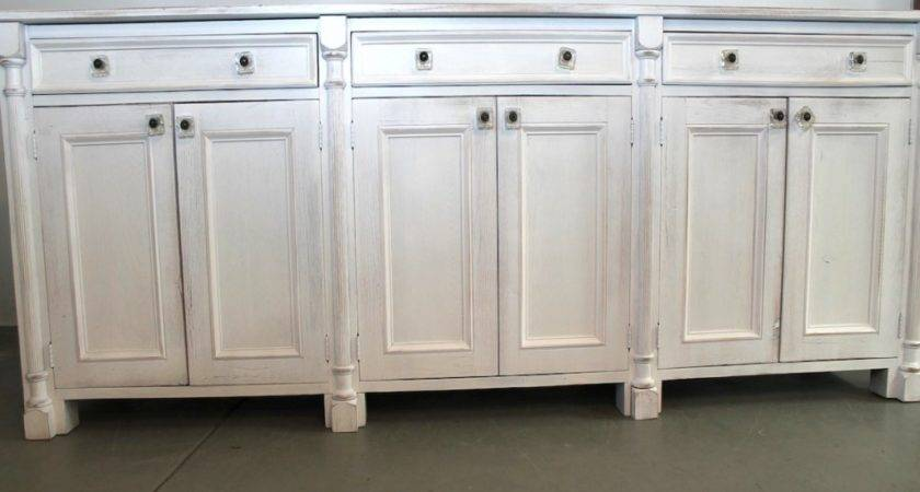 Rustic Kitchen Cabinets White Sideboards Buffets