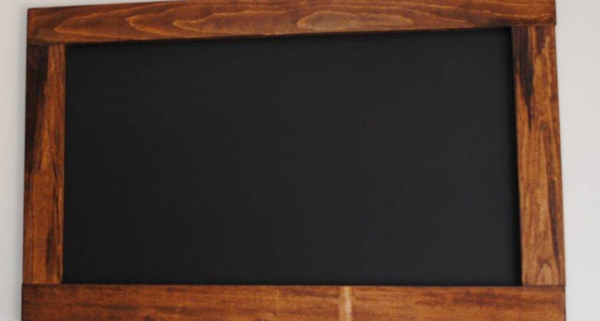 Rustic Maple Wood Chalkboard Our Kitchen