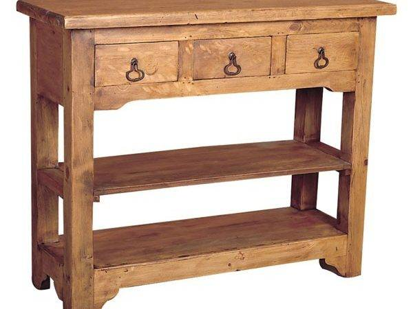 Rustic Pine Side Table Drawers Tres Amigos World Imports