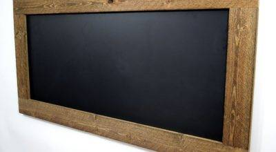 Rustic Reclaimed Wood Chalkboard Large Framed