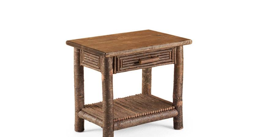 Rustic Side Table Lune Collection