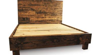 Rustic Solid Wood Platform Bed Frame Headboard Reclaimed