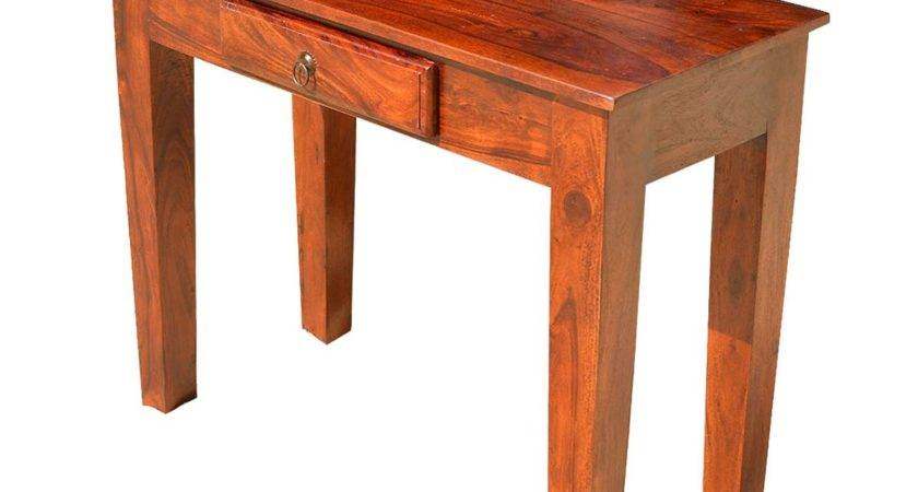 Rustic Solid Wood Sofa Hall Console Table Drawer