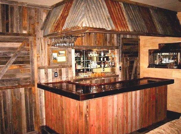 Rustic Style Home Bars Easy Bar Plans
