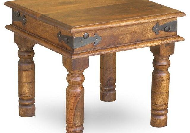 Rustic Thakat Side Table Tables End