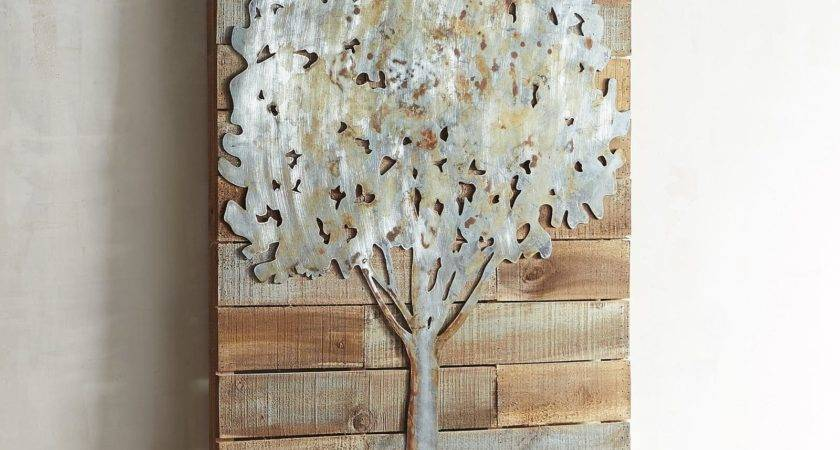 Rustic Tree Planked Wall Decor Pier Imports