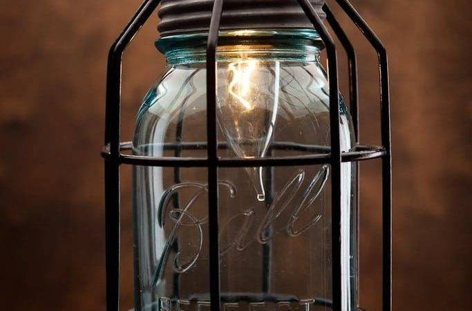 Rustic Vintage Lamp Corporation Mason Jar