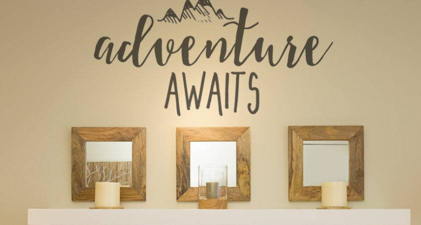 Rustic Wall Decals Adventure Awaits