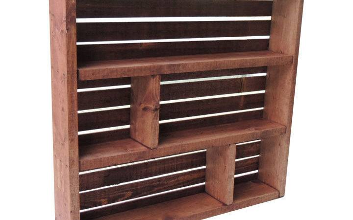 Rustic Wooden Crate Spice Rack Knick Knack Shelf Dyed