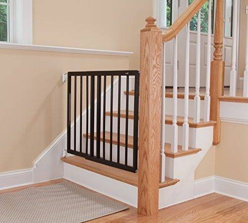 Safety Top Stairs Decor Swing Gate Baby Toddler