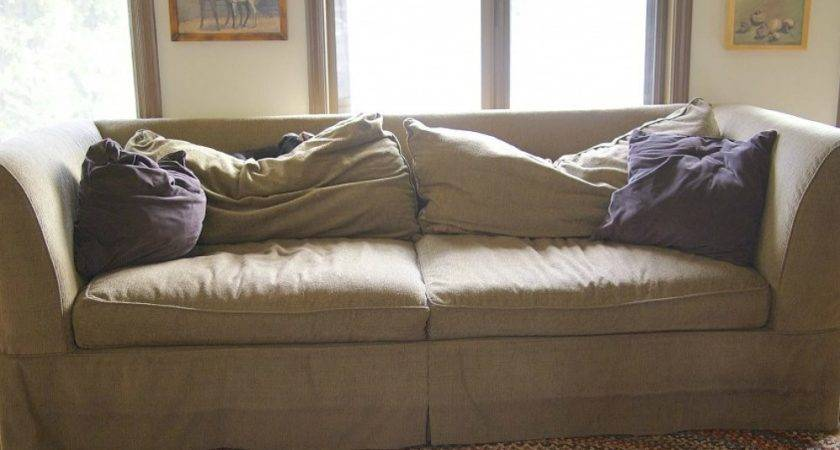 Saggy Brown Sofa Diy Couch Makeovers Creative