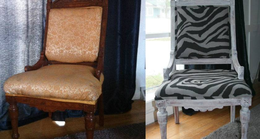 Salvaged Home Reupholster Antique Chair