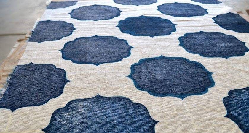 Sarah Dorsey Designs Diy Painted Morrocan Rug Finished