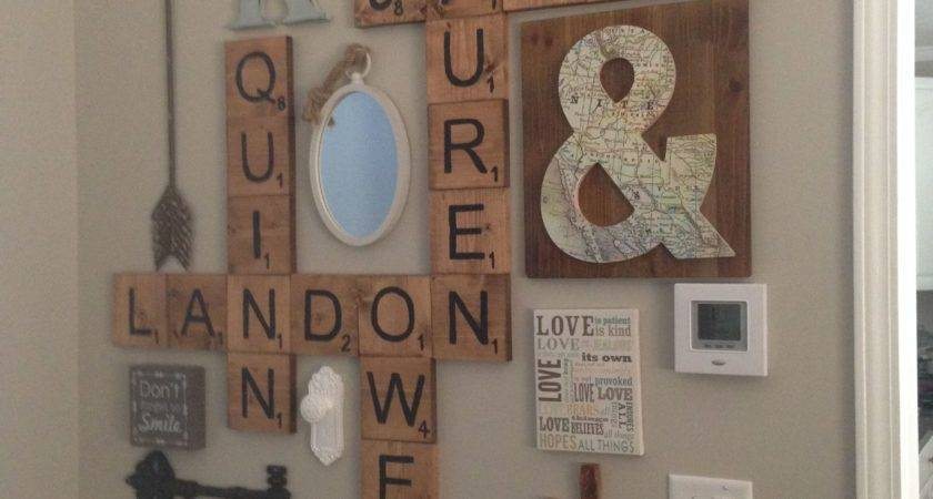 Scrabble Letters Wall Decor Diy Pinterest
