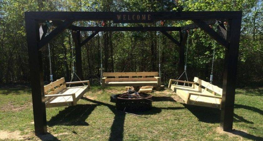 Seating Benches Indoor Four Swing Seat Fire Pit Diy