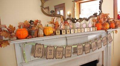 Second Street Thanksgiving Mantel Other Decor