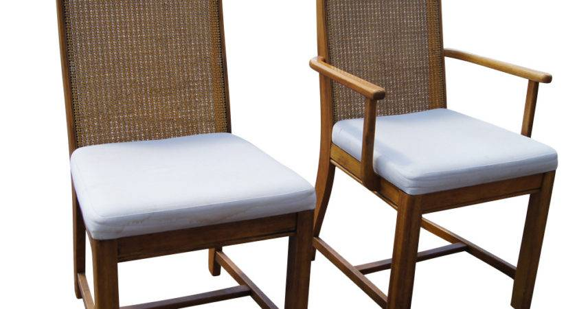 Set Cane Back Dining Chairs