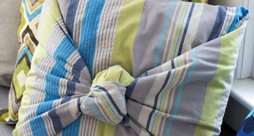 Sew Pillow Covers Fold Tie Perfect Couch Pillows
