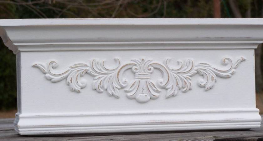 Shabby French Bed Canopy Cornice Made Order