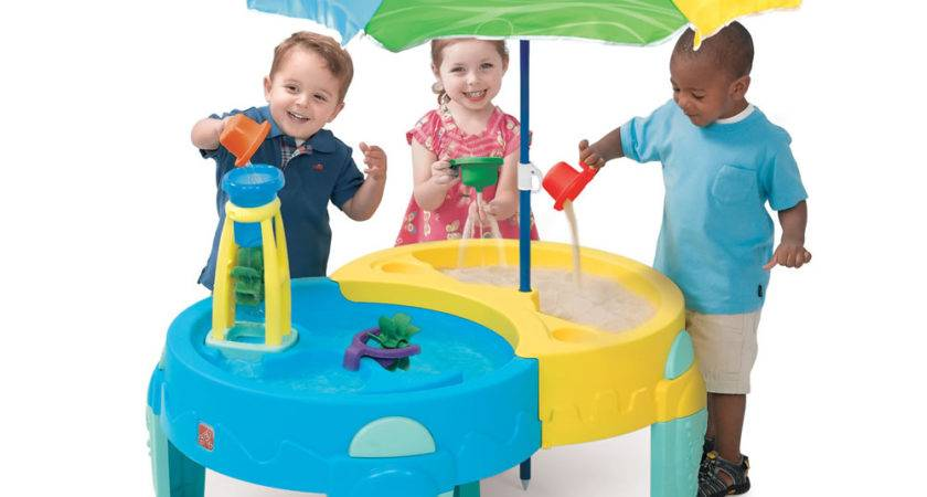 Shady Oasis Sand Water Play Table Step