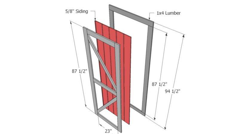 Shed Doors Plans Building Storage Simple Steps