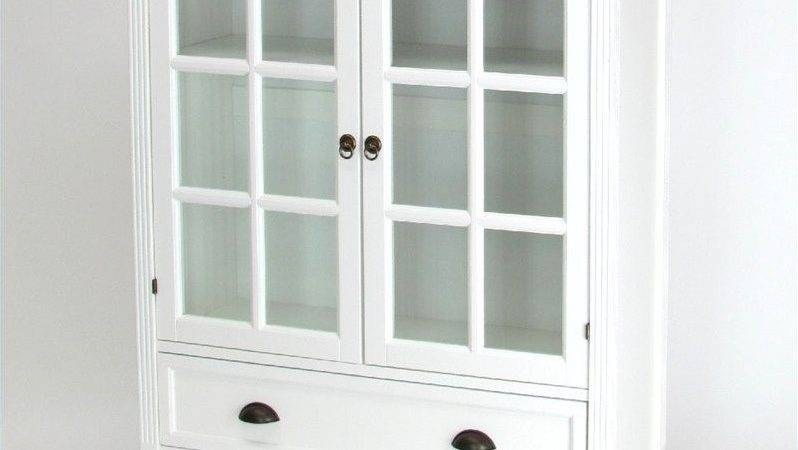 Shelf Barrister Bookcase Glass Door White