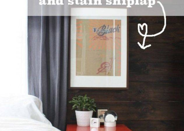 Shiplap Stained Wall Bedside Table Love Merrypad
