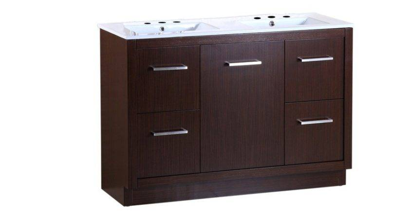 Shop Bellaterra Home Wenge Self Rimming Double Sink