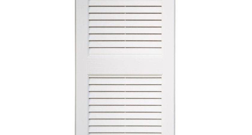 Shop Severe Weather Pack White Louvered Vinyl Exterior