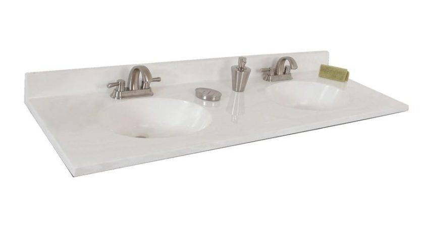 Shop Style Selections Oval White Cultured Marble