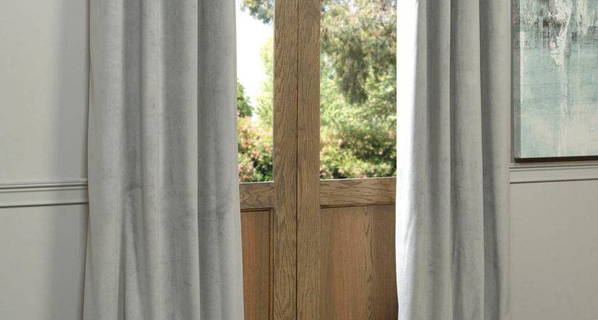 Signature Grommet Grey Inch Blackout Curtain Half