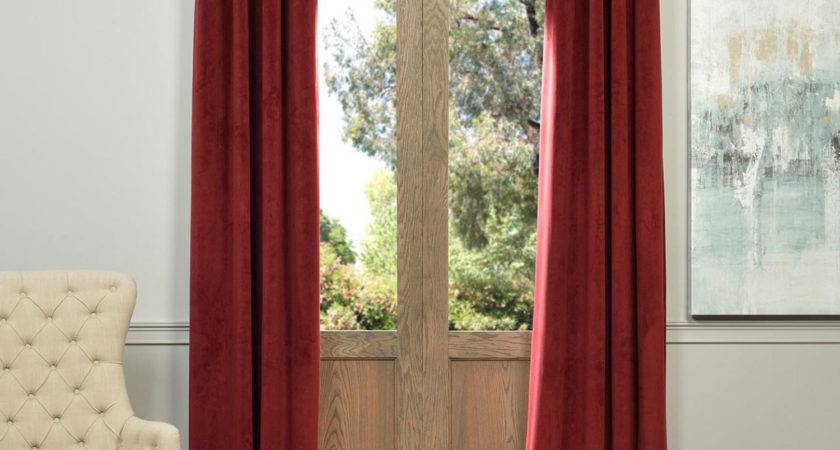 Signature Grommet Red Inch Blackout Curtain Half