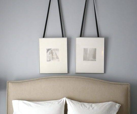 Silver Gray Paint Color Contemporary Bedroom