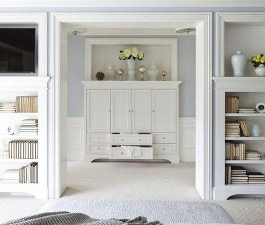 Silver Gray Paint Colors Transitional Bedroom