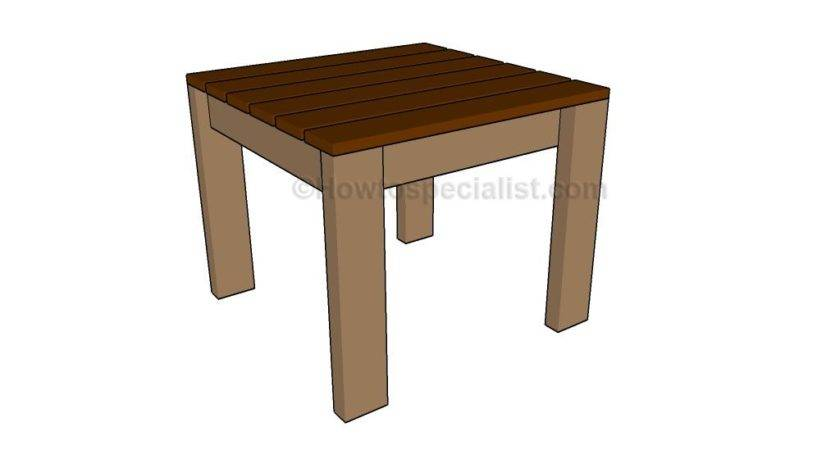Simple End Table Plans Howtospecialist Build