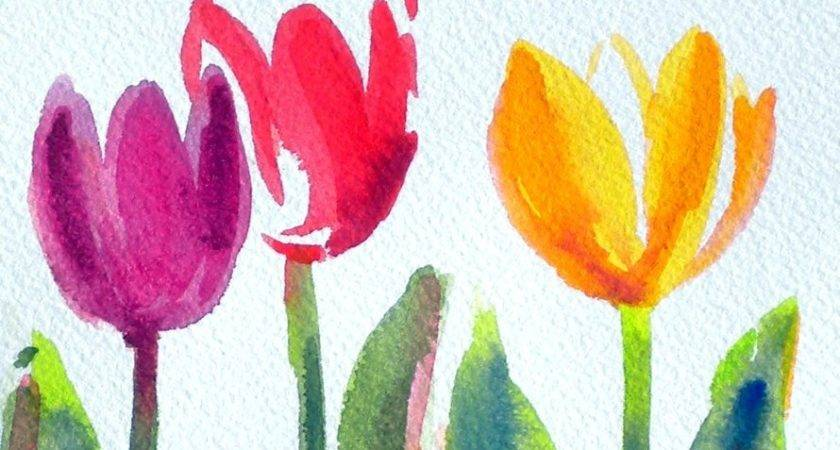 Simple Sweet Original Watercolor Painting Just Time