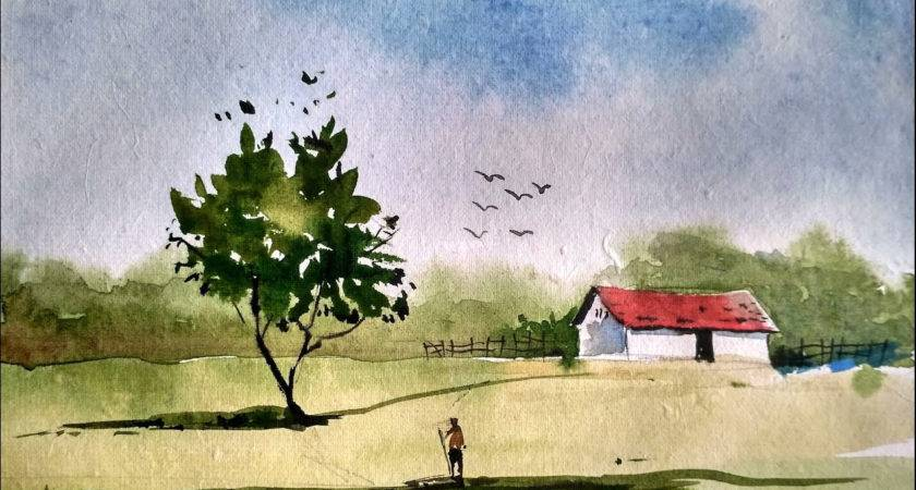 Simple Watercolor Paintings Drawing Artistic